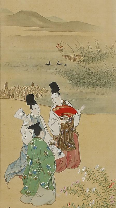 四季花鳥人物図