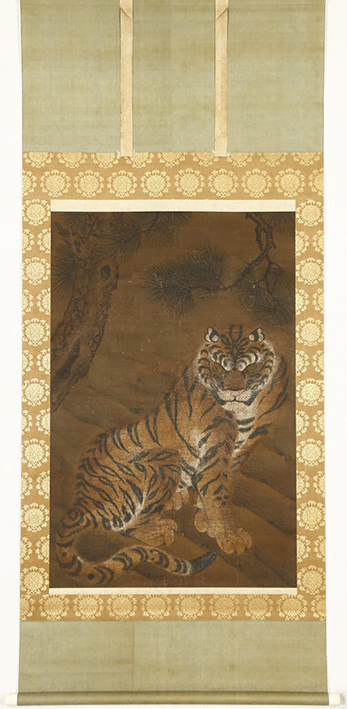 Tiger under the Pine Tree,  Ming Dynasty(16th Century)