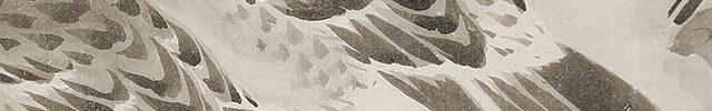 雪中椿鳩図