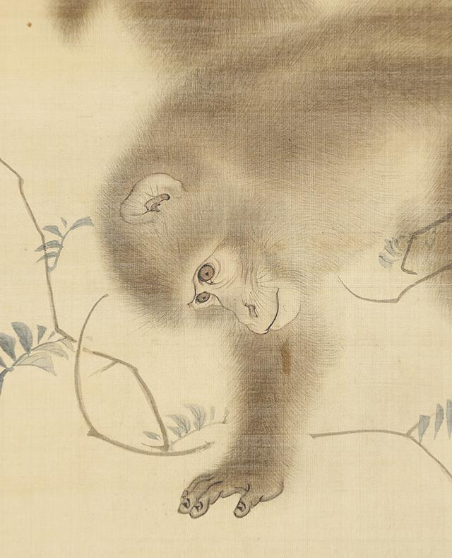旭日双猿図