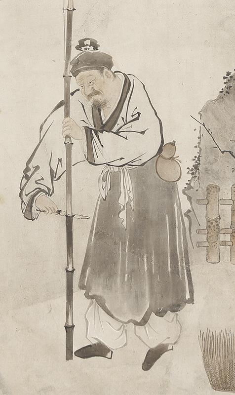龐居士 霊照女図