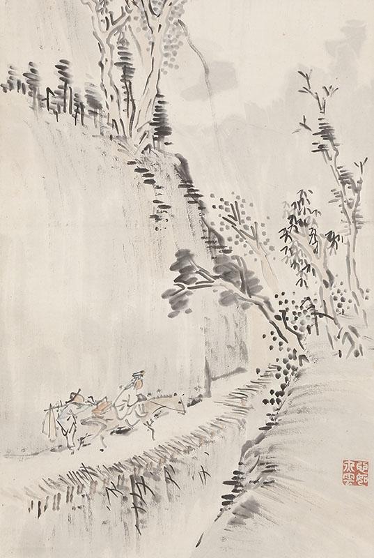 夏景山水図