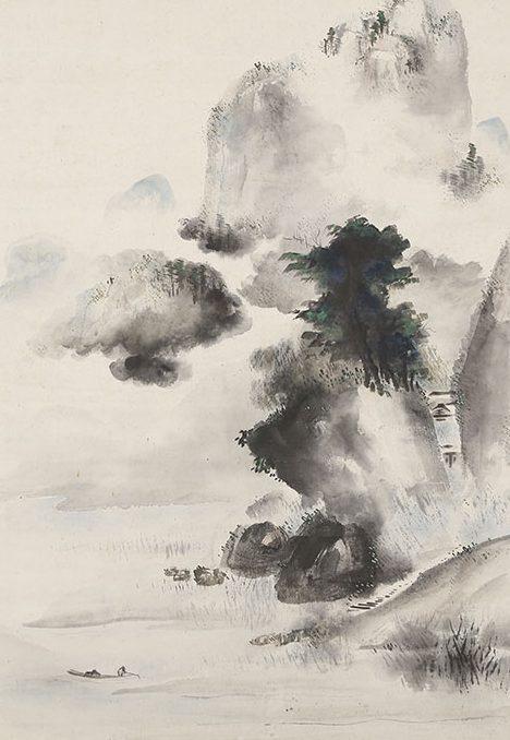 夏景山水図(文政2年)
