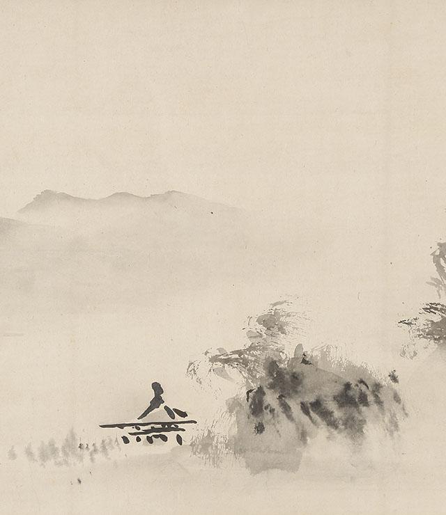 破墨山水図(元禄14年)