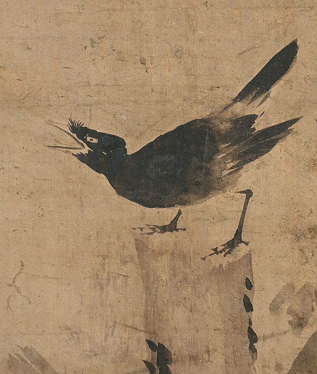 古木叭々鳥図