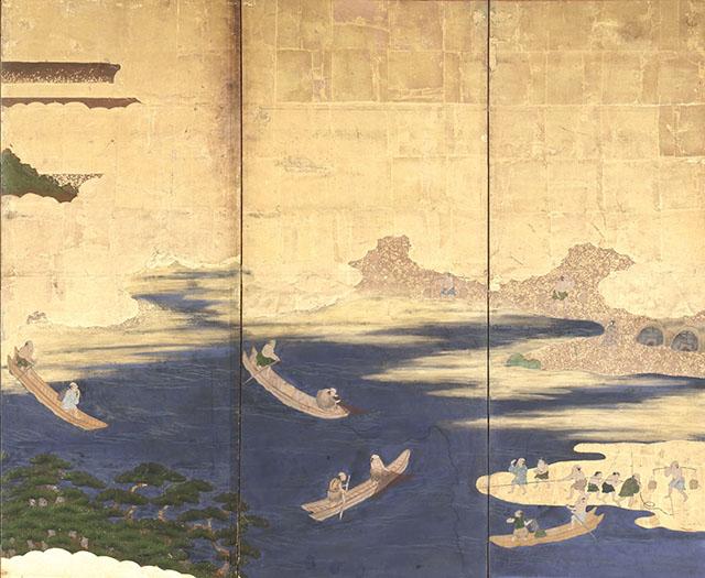 富士漁師并東下り図