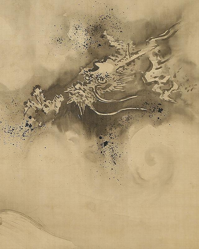 龍虎図(寛文10年68歳)