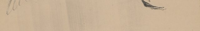 雨中白鷺之図