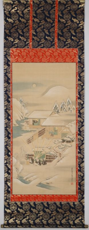 親鸞聖人枕石図