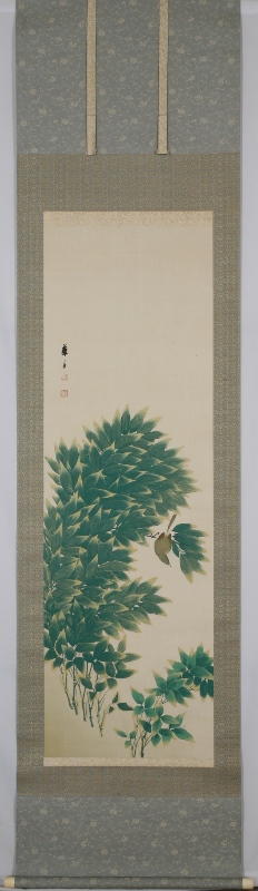 新竹小禽図