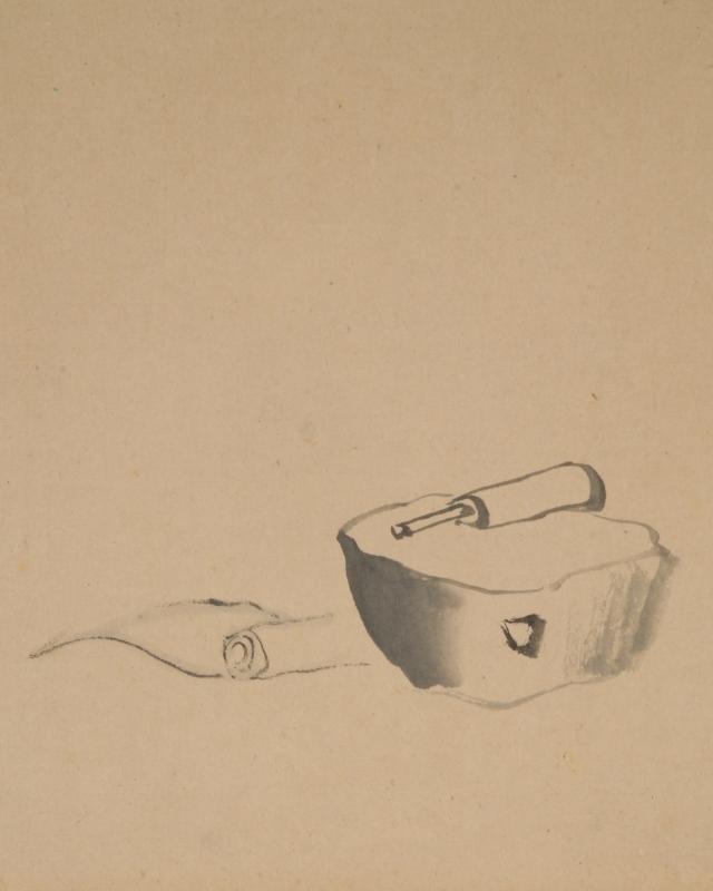 蓮月尼キヌタ自画賛「からころもうつおときけはそてのつゆ くたけてもののおもはるるかな」