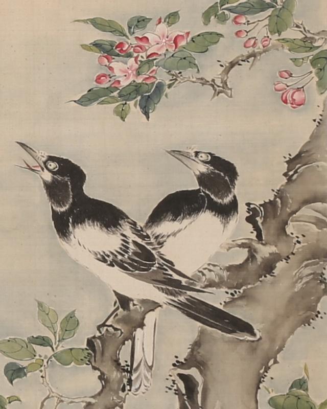 花鳥自画賛