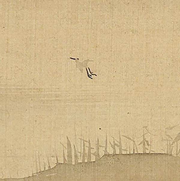 水辺飛鳥図