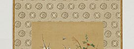 四季草花図