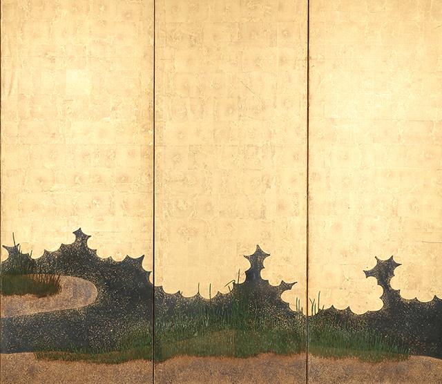 木賊図屏風
