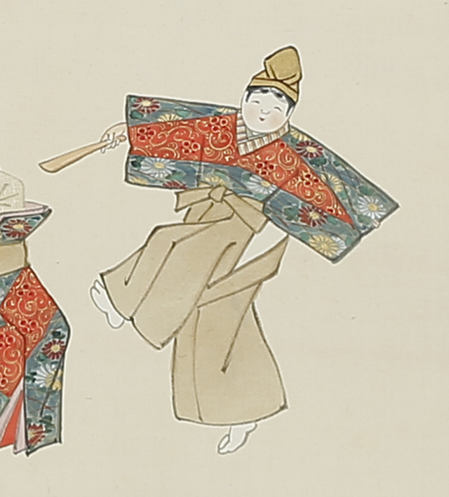 立雛舞踊図