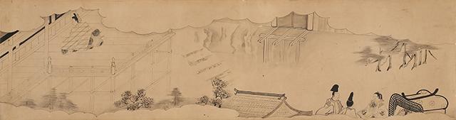 白描源氏物語(清水寺)