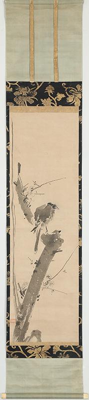 梅ニ叭々鳥図